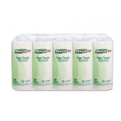 MARCAL PRO 100% PREMIUM RECYCLED PERFORATED TOWELS 11 X 9 WHITE 70 SHEETS EACH ROLL