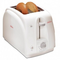 Toaster 2 Slice Toaster X-Wide Cool Touch Removable Crumb Tray White