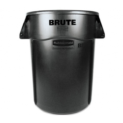 Rubbermaid Commercial Brute Vented Trash Receptacle Round 44 gal Black