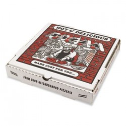 Takeout Containers 10in Pizza White