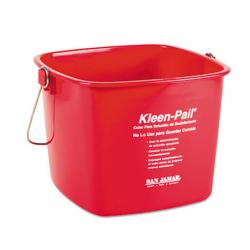 Kleen-Pail 6qt Plastic Red