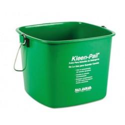 San Jamar Kleen-Pail 6qt Plastic Green
