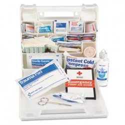 IMPACT FIRST AID KIT FOR 50 PEOPLE 194 PIECES PLASTIC CASE