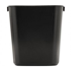 Rubbermaid Commercial Deskside Plastic Wastebasket Rectangular Black
