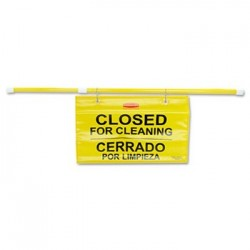 Rubbermaid Commercial Site Safety Hanging Sign *CLOSED* 50 x 1 x 13 Multi-Lingual Yellow