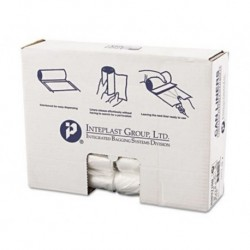 Inteplast Group High-Density Can Liner 30 x 37 30gal 10mic Clear