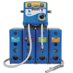 Zep Professional Advantage+ 4 in 1 Wall Mount Dispensing System BluePlastic & Metal19.5x6.75x29