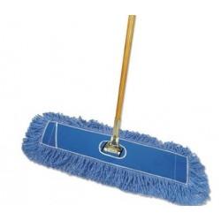 Boardwalk Looped-End Dust Mop Kit 36 x 5 60 Metal & Wood Handle Blue & Natural