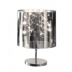 Cosmo Table Lamp - Chrome Base & Translucent Mirrored Shade