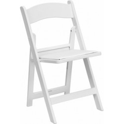 Resin Folding Dining Chairs - White