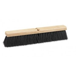 USA Floor Brush Head 24 Wide Black Medium Weight Polypropylene Bristles