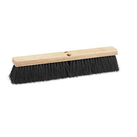 USA Floor Brush Head 24 Wide Black Medium Weight Polypropylene Bristles