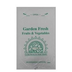 U-BAG-IT Garden Fresh Printed Clear Produce Bag - 12 x 20