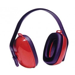 Howard Leight by Honeywell QM24+ Three-Position Earmuffs 24NRR Red & Black
