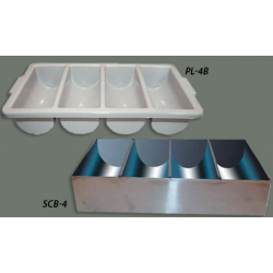 Cutlery Bin 4 Compartment PP