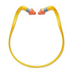 Howard Leight by Honeywell QB2HYG Banded Multi-Use Earplugs 25NRR Orange Band & Orange Plug