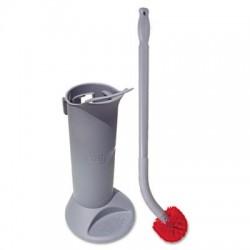 Unger Ergo Toilet Bowl Brush Complete: Wand Brush Holder & 2 Heads