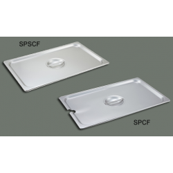 S/S Steam Pan Cover Full-size Slotted