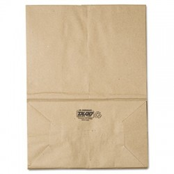 General 1 6 BBL Paper Grocery Bag 57lb Kraft Standard 12 x 7 x 17