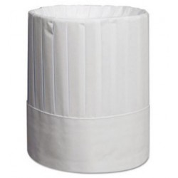 Royal Pleated Chefs Hats Paper White Adjustable 9 in Tall