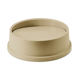 SWING TOP LID FOR ROUND WASTE CONTAINER PLASTIC BEIGE