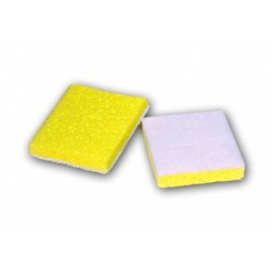 Yellow with White Scrubber (Individually Wrapped) 4.5 x 3 x 0.75