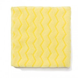 Rubbermaid Commercial Reusable Cleaning Cloths Microfiber 16 x 16 Yellow