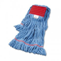 Boardwalk Super Loop Wet Mop Head Cotton/Synthetic Large Size Blue