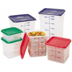 Cover for Square Food Storage Containers Fits 6Qt & 8Qt Red