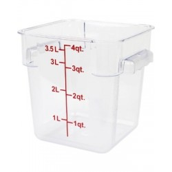 Square Food Storage 4Qt Clear