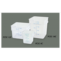 Square Food Storage Containers 8Qt CLEAR