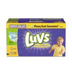 Luvs Diapers with Leakguard Size 5: 27 to 35 lbs