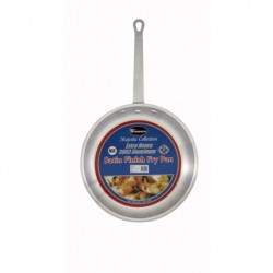 The Majestic Heavy Duty Satin Aluminum Fry Pans Satin Finish 12 3.5mm Thick Made with 3003 Aluminum