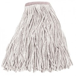 CUT-END WET MOP HEAD COTTON 16 SIZE WHITE
