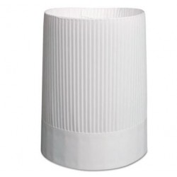 STIRLING FLUTED CHEFS HATS PAPER WHITE ADJUSTABLE 10 TALL