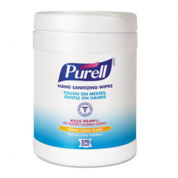 Purell Sanitizing Hand Wipes White 270 Wipes Canister