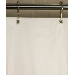 Shower Curtain Liners Registry PEVA 6-Gauge 6 x 6 White