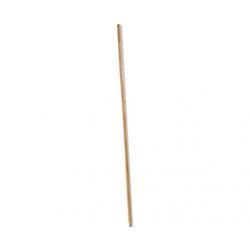 Metal Tip Threaded Hardwood Broom Handle Natural