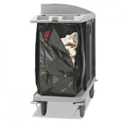 ZIPPERED VINYL CLEANING CART BAG 25 GAL 17W X 10 1/2D X 33H