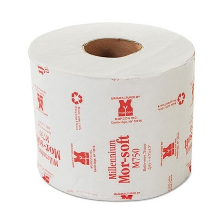 Morcon Paper Morsoft Millennium Bath Tissue 2-Ply Individually Wrapped 750 Per Roll