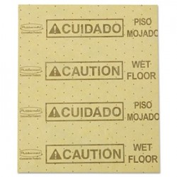 over-the-Spill Pad Caution Wet Floor Yellow