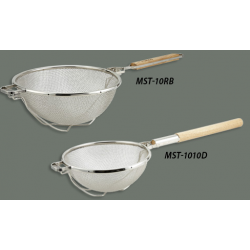 Reinforced Double Mesh Staineless Steel Strainer Round Handle 14