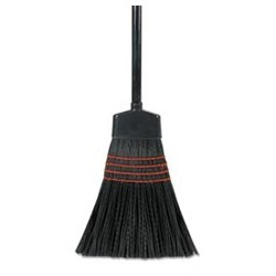 BOARDWALK Maid Broom Plastic Bristles Wood Handle 54 Long