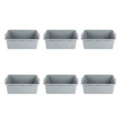 Standard Dish Boxes Polypropylene 21-1/2 x 15 x 7 BROWN