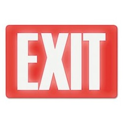 HEADLINE Sign - Glow In The Dark Sign 8 x 12 Red Glow EXIT