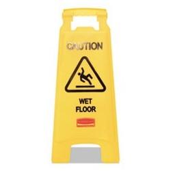 RUBBERMAID Commercial - Caution Wet Floor Floor Sign Plastic 11 x 12 x 25 Bright Yellow