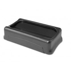 Rubbermaid Commercial Swing Top Lid for Slim Jim Waste Containers  Plastic Black