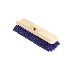 Rubbermaid Commercial Bi-Level Deck Scrub Brush Polypropylene Fibers 10 Plastic Block Tapered Hole