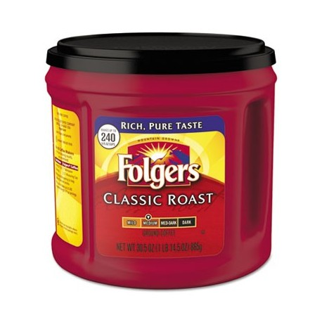 Folgers Coffee Classic Roast Ground 30.5 oz Canister
