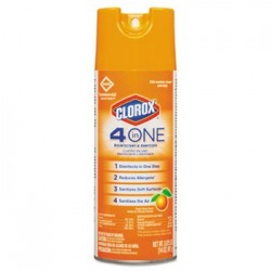 CLOROX 4-IN-ONE DISINFECTANT & SANITIZER FRESH CITRUS 14OZ AEROSOL